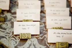 cork place cards