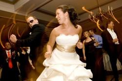a dancing bride & groom