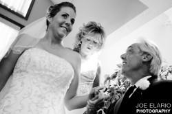 Dad greeting Melissa