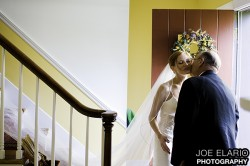 dad gives kim a kiss when she comes down the stairs - never ever staged