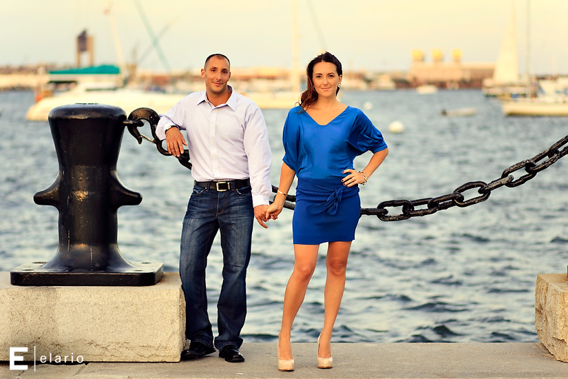 a north end engagement session with danaea & mike