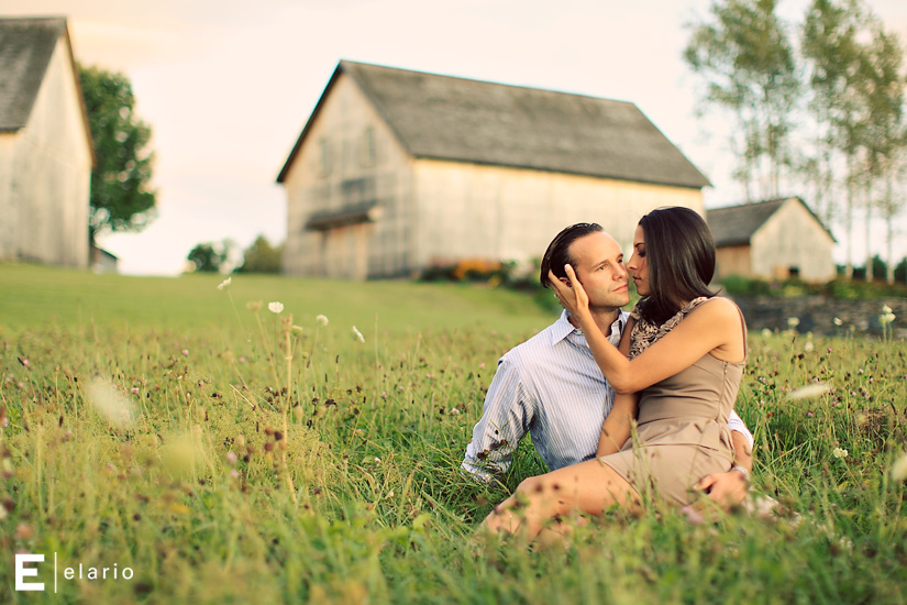 marisa & chris: historic barns engagement session