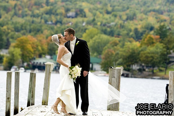 erica & chris tie the knot in lake george