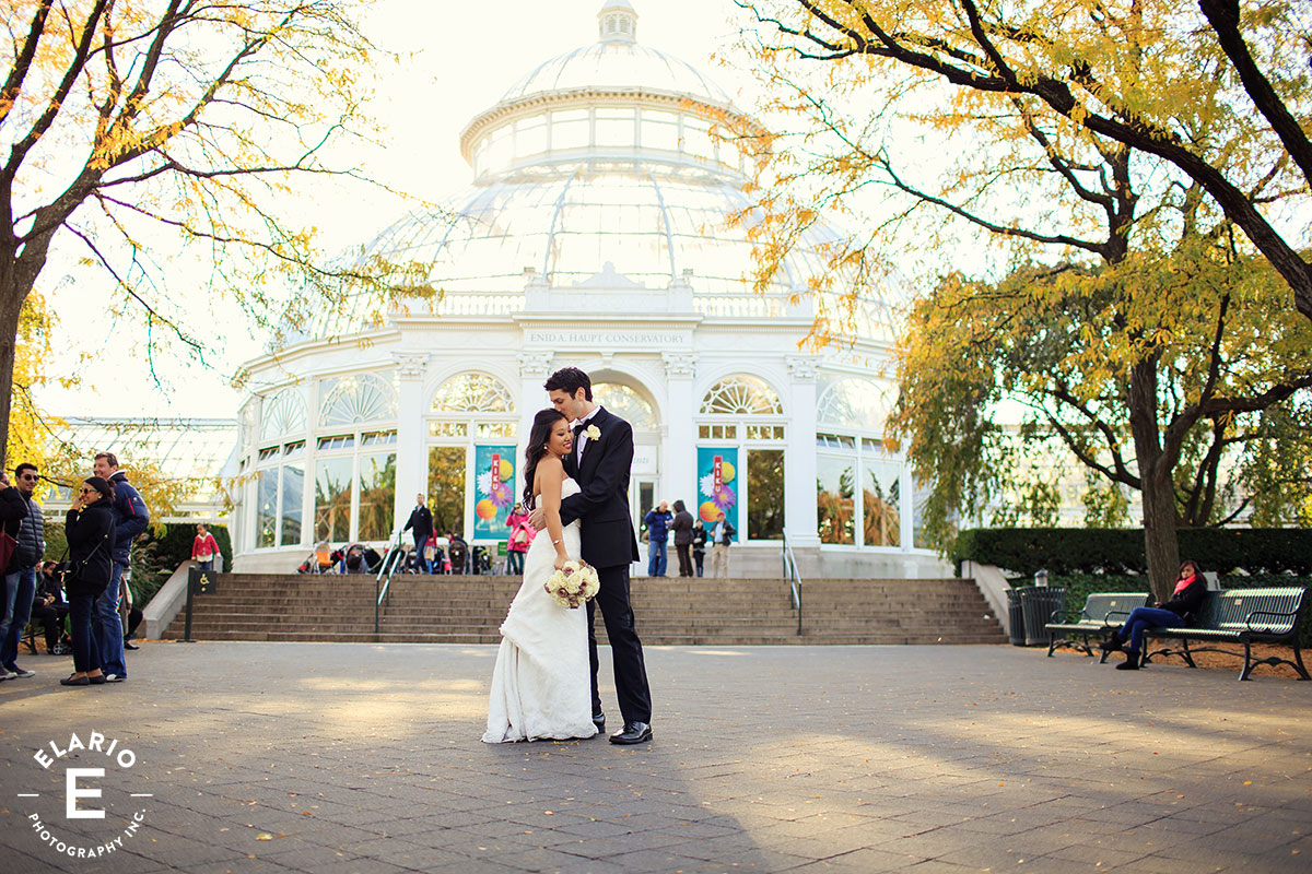 New York Botanical Garden Wedding Photos Emily Jeremy