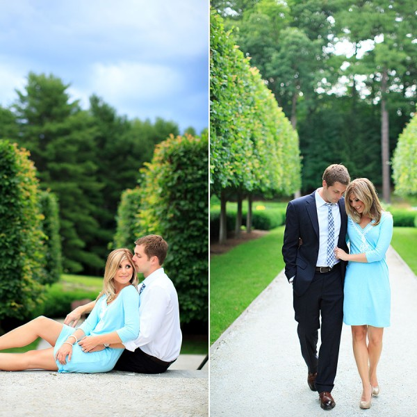 The Mount, Lenox Engagement Photos with Jenny & Josh