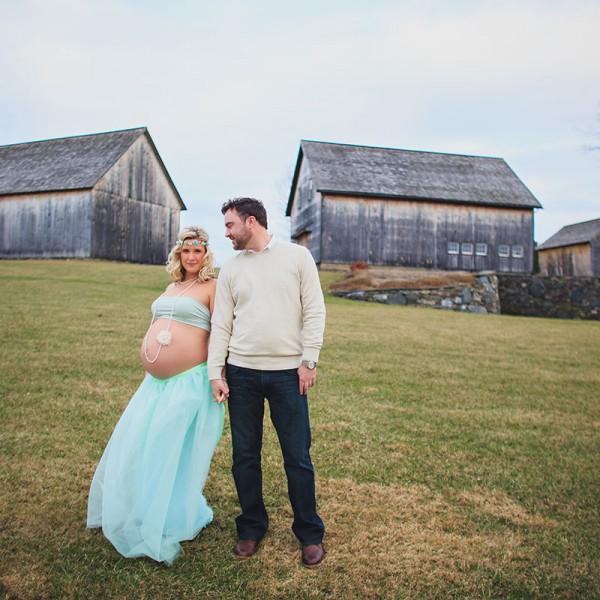 Jamie and Eamon's Barns at Nipmoose Maternity Photos