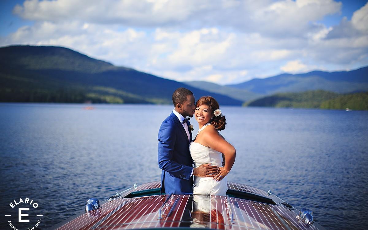 Cassandra & Charles' Lake Placid Lodge Wedding Photos