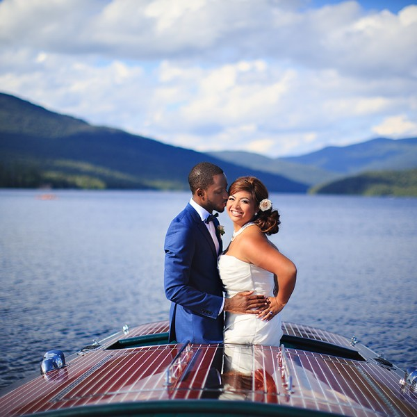 Cassandra & Charles' Lake Placid Lodge Wedding Photos