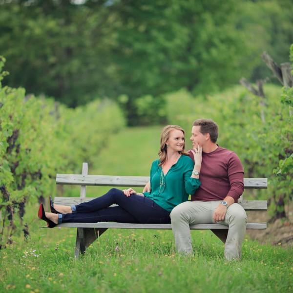 Cait & Tyler's Altamont Engagement Photos