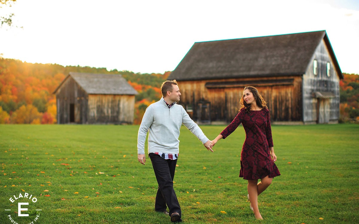 Caitlin & Justin's Barns at Nipmoose Engagement Photos