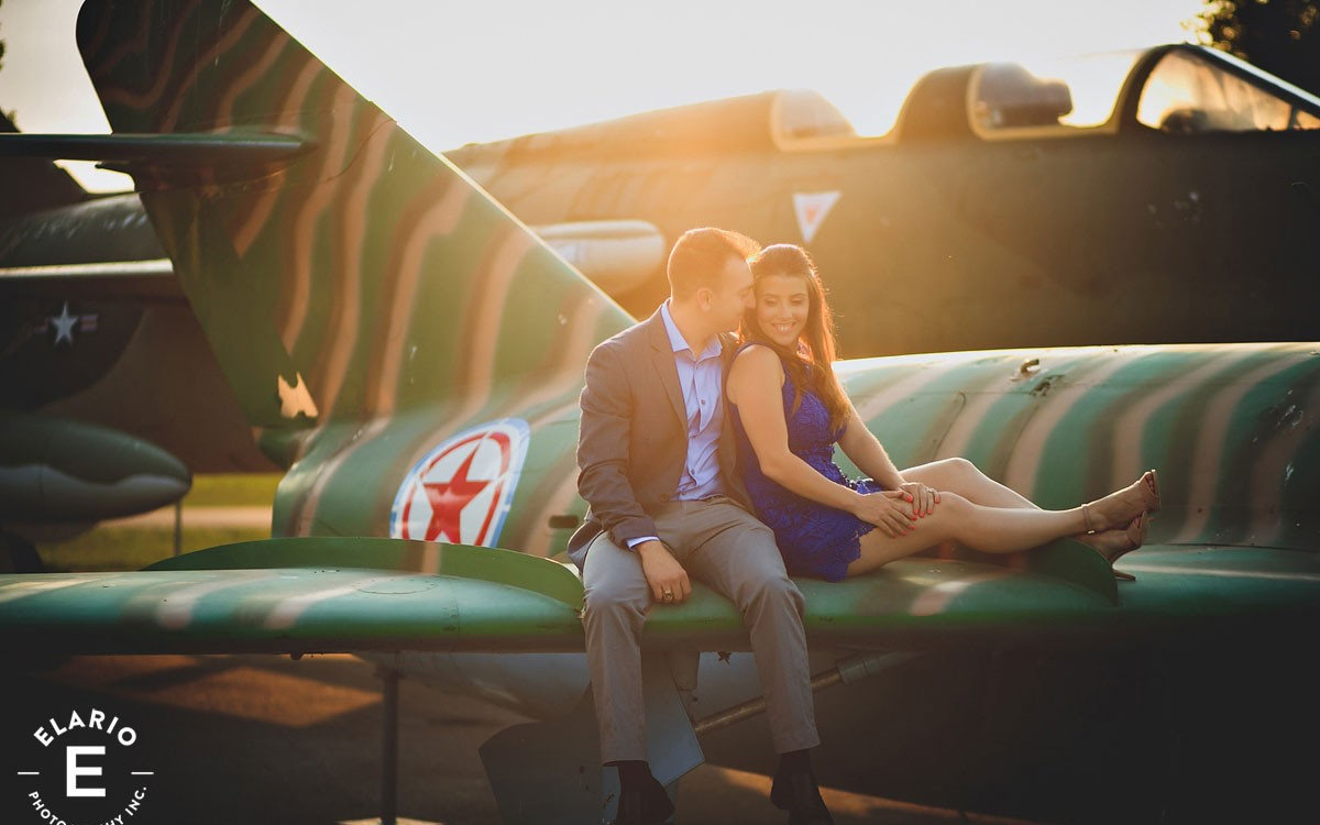 Jessica & Caleb's Schenectady Air Museum Engagement Photos