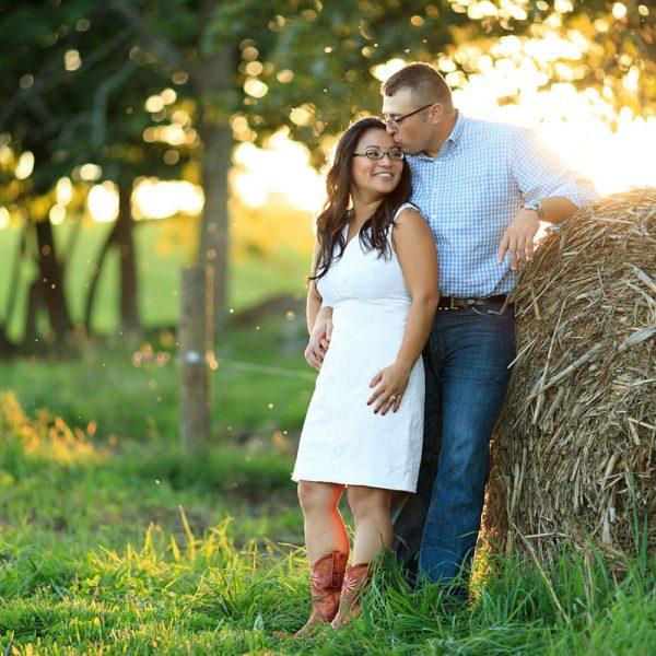 Jessica & Joe's Farm Engagement Photos