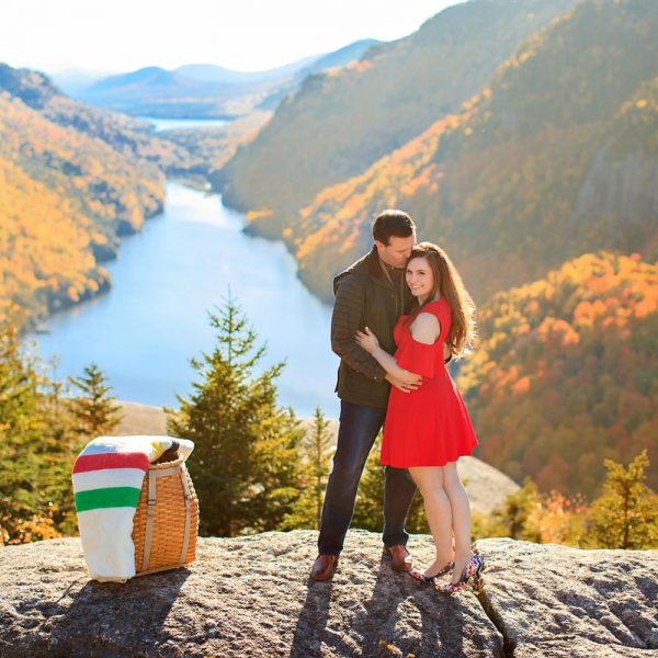 Julie and Malcolm's Ausable Lake Engagement Photos