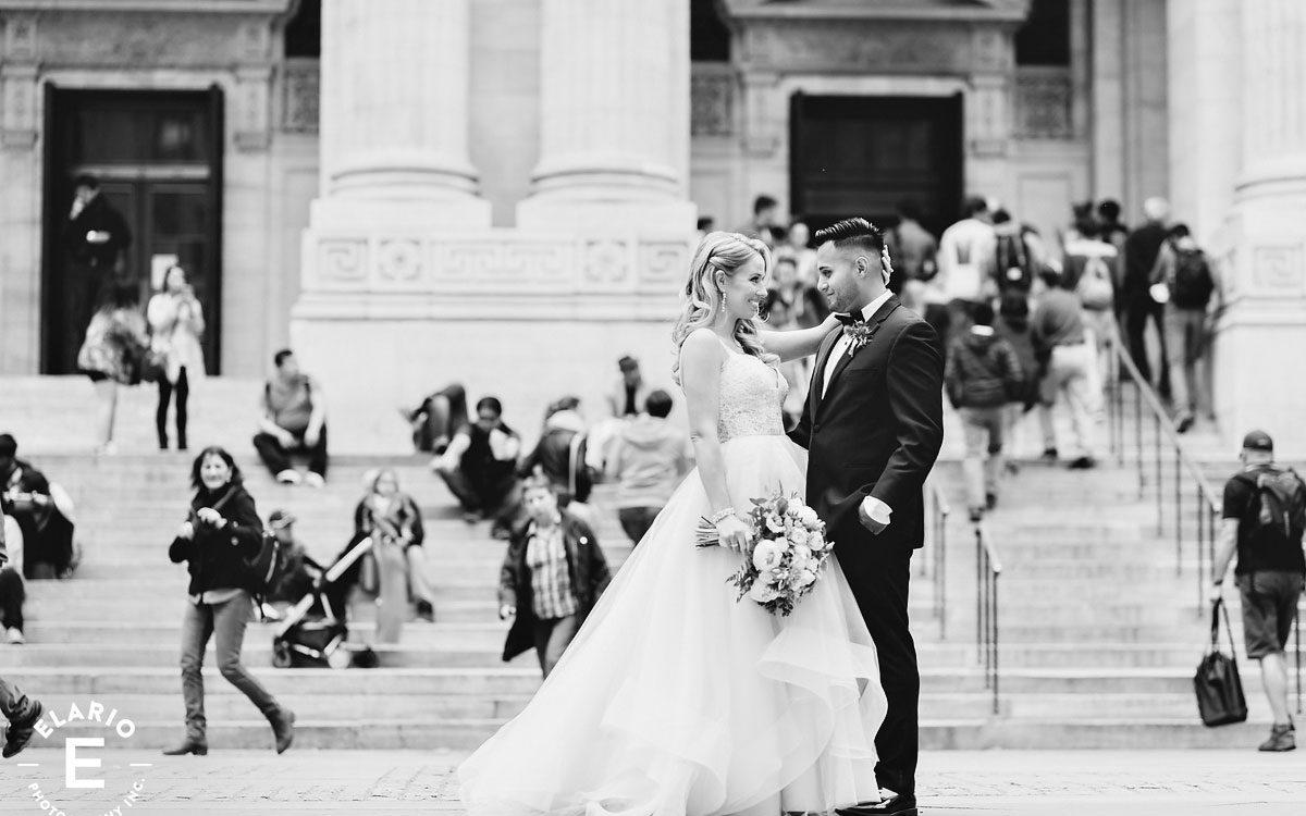 Lauren & Jonathan's Bryant Park Wedding Photos
