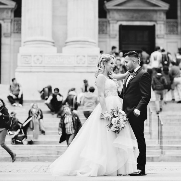 Lauren & Jonathan's Bryant Park Wedding Photos