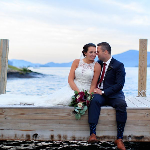 Paris & Arthur's Lake George Wedding Photos